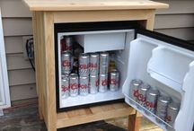 Outdoor fridge / Wooden fridge