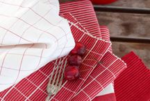 Red and White: A classic combination.