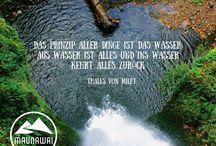 Inspiration Wasser / Wasser belebt, reinigt, nährt und ist ein lebensnotwendiges Element. Doch es hat auch viele Menschen inspiriert. Diese Pinnwand widmet sich allen Zitaten und Weisheiten rund um das Element Wasser