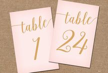 Wedding ♥ Table numbers