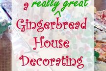 Gingerbread House Party / Making Gingerbread Houses and other fun holiday festivities