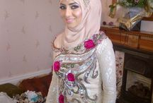 bridal hijab styles