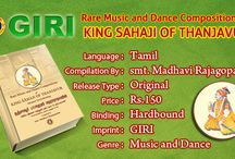 """New Arrival book from GIRI / """"RARE MUSIC AND DANCE COMPOSITIONS OF KING SHAHAJI OF THANJAVUR"""" - New arrival book from GIRI"""