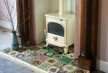 Fire place inspiration / Gorgeous tiles etc...
