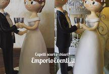 Cake topper economiche / Cake topper economiche con capelli personalizzati