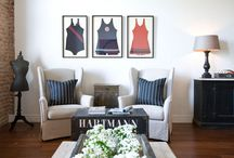 Fashion as Decor / I love dresses displayed in a room