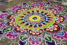 Beautiful Rangoli  designs / This board is about Rangoli designs which are famous in India.