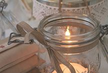 Jars, bling and candles