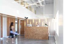 ADHOC architectes - Yoga B.E.A.R. yoga studio interior design / Interior design by ADHOC architectes for Yoga B.E.A.R. in Montreal, Canada // Project  here : http://adhoc-architectes.com/portfolio/yoga-b-e-a-r/