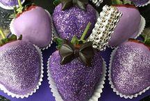 decorated strawberries