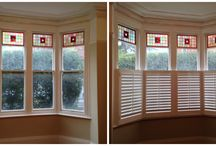 Before & after shutters / Shots of windows before and after our installation team have fitted a sparkling set of new shutters
