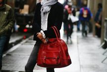 Accent with a red bag