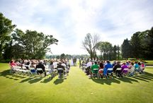 Ceremonies on the Green / Lake Michigan Hills Golf Club, Benton Harbor, MI outdoor wedding ceremony site