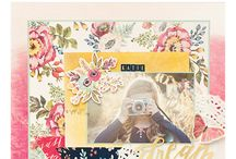 Wildflower Paper Collection / Out newest paper collection offers a soft watercolor feel with bold accents of navy and gold foil.  The Wildflower collection includes double sided paper, stickers, thickers, Letterpress plates, leather bows, layered tags, ephemera bits and paper pads.