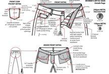 Pantaloni tipare specs schițe
