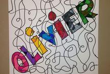 Malen, Zeichnen, Schrift