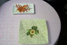 Paintings on porcelain / Some I painted