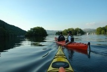 Canoe and kayaking / A variety of canoeing and kayaking fun as part of outdoor activities with Distant Horizons in the lake District
