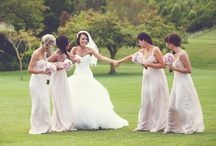Weddings - Bridesmaids / Don't just stand those hotties in a line with their flowers belly high. Lets get you moving, girls!