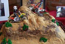 cake bike, car's and bicycle theme