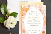 Peach Weddings / Peach wedding inspiration and ideas.