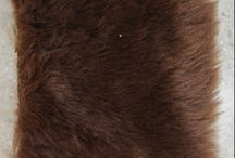 fur carpet / This fur rug is a handmade product from a cottage industry Indonesia
