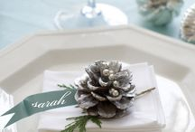 Christmas Table Setting / Ideas for a lovely table on Christmas Day