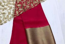 red-hot saree with lace blouse