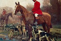 Huntsman and horse