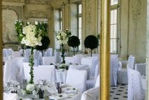 ☼ Green Wedding ☼ / Wonderful Wedding decoration with a lot of vegetation and white flowers