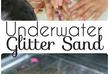 Underwater glitter