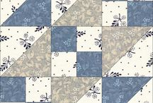 Blå og hvite blokker