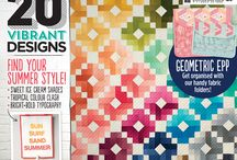 Summer 2016 quilts / Delicious quilting and patchwork projects, packed with ideas for your next quilt. Get the latest looks from ombre to mono magic.