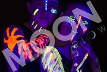 NEON UV FACE & BODY PAINT by Moon Glow / Take a look at our stunning Neon UV Face & Body Paint!