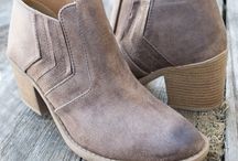 Shoes and Boots / Love these distressed camel coloured bootees