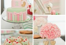 Baby girl's second birthday party