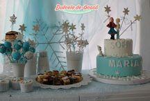 """Candy bar cu tematica """"Frozen"""" / http://dulceledeacasa.ro"""