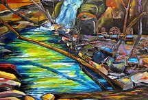 art - waterfall
