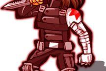 らくがき / Captain America The Winter Soldier キャプテンアメリカ ウィンターソルジャー 関連自作絵をぺたぺたとね。