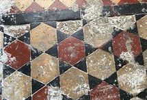 Quarry Tiles / A beautiful quarry tile floor we restored. Such a beautiful floor - before and after pictures