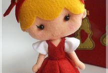 boneca vermelha