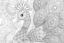 Antistressed colouring book
