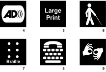 Services to Students  / Disability Access Sign Symbols for Download