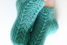 Knit socks & slippers