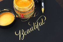 cAlLiGrApHy / Would love to learn how to do this. . So pretty!