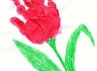 tulipan z dłoni