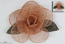 sinamay flowers for church hats