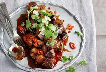 Aasialainen keittiö / Aasialaisen keittiön inspiroimia reseptejä.
