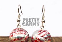 Pretty and unusual - up cycling / Unique lightweight earrings, lovingly hand crafted from cans.