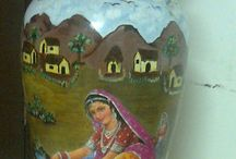 Home Decor / Hand Painted Pots which are wonderful way to decore your living rom